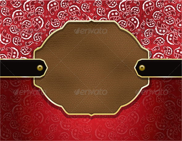 GraphicRiver Vector Country Paisley and Leather Background 6855998