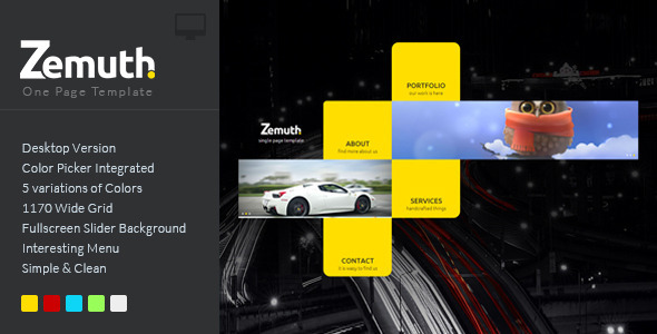 ThemeForest Zemuth One Page Template 6856132