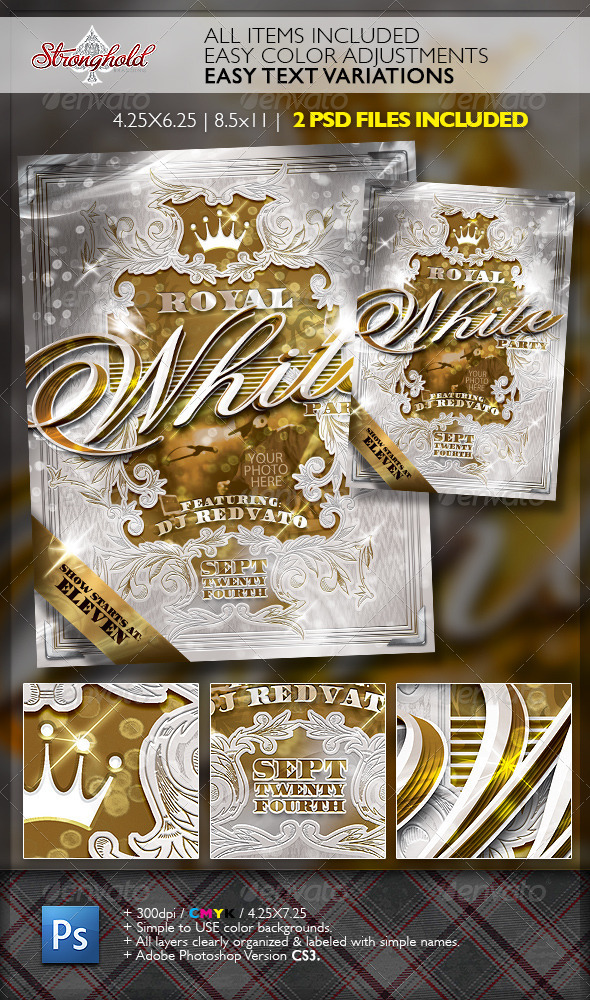 GraphicRiver Royal White Party Event Flyer Template 6856147