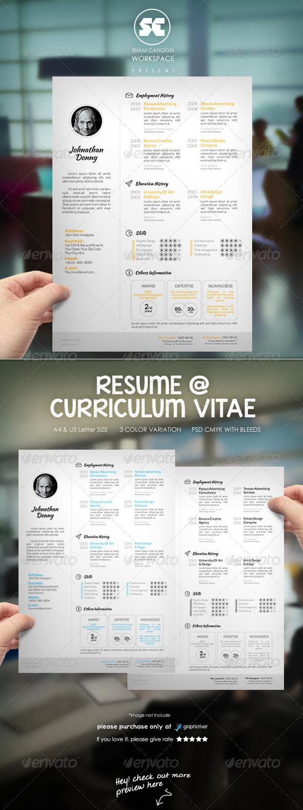 Clean & Modern Resume CV