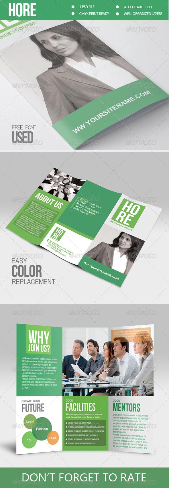 GraphicRiver Hore Multipurpose Trifold Brochure 6856163