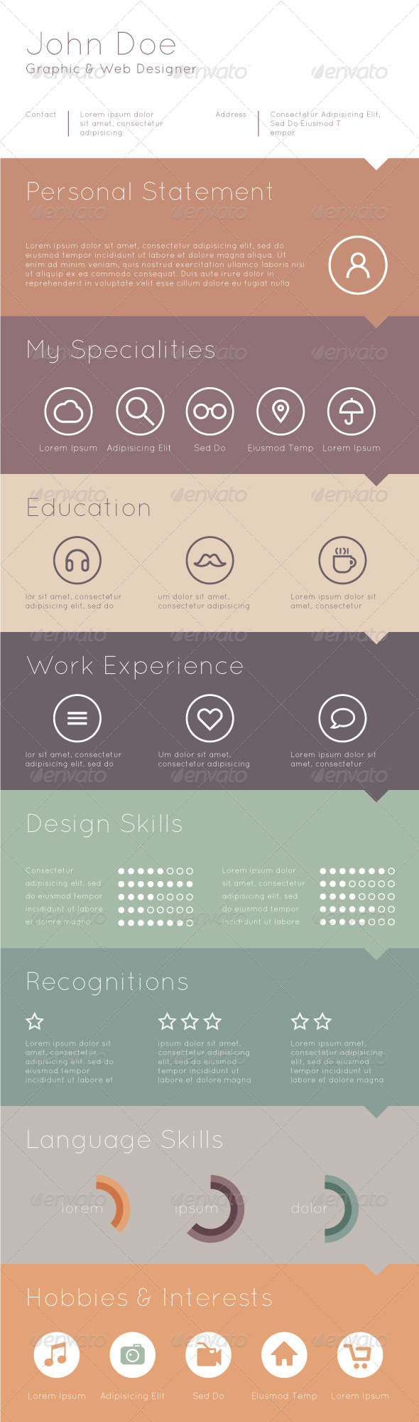 GraphicRiver Template for Your Resume 6856293