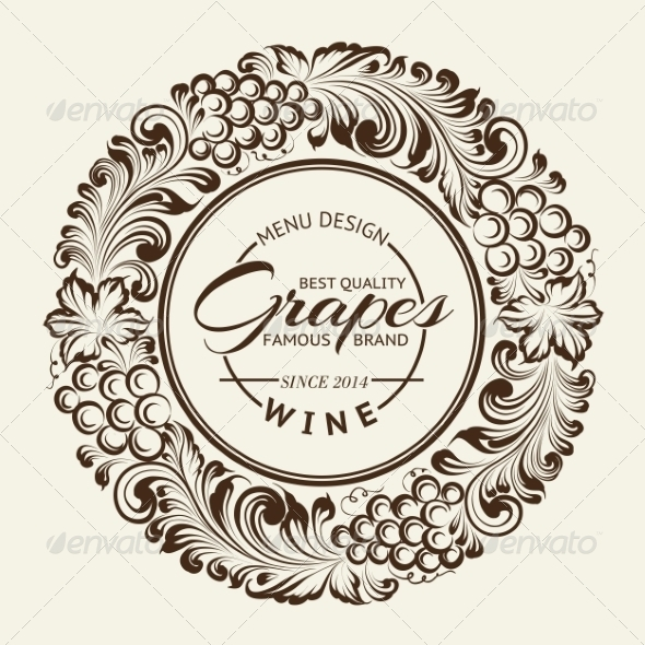 GraphicRiver Vintage Radial Ornament Over Sepia 6856371