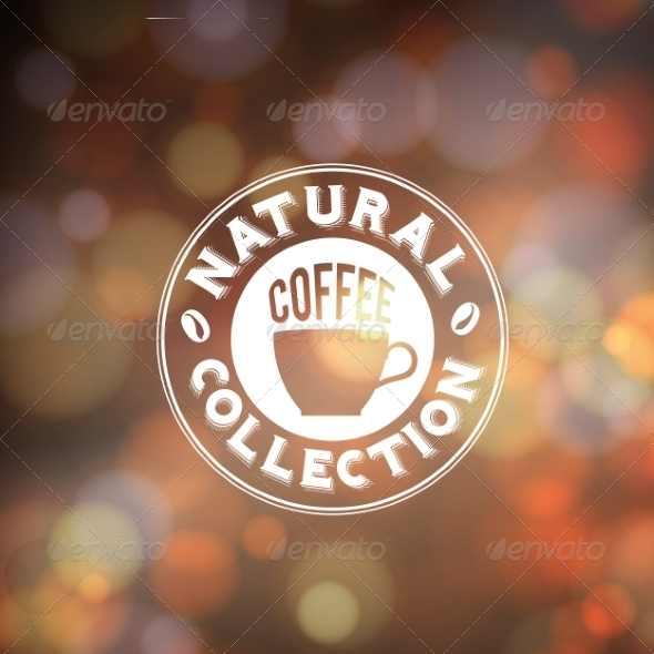 GraphicRiver Background with Coffee Lettering 6856373