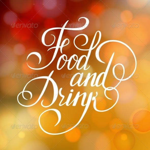 GraphicRiver Food and Drink Typographic Poster Design 6856405