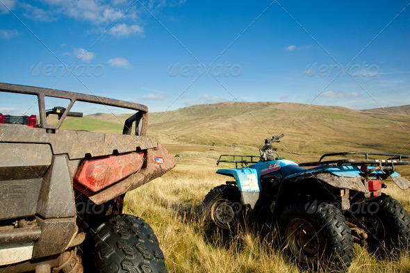 PhotoDune ATV quad bikes on Snowdonia mountain 738790