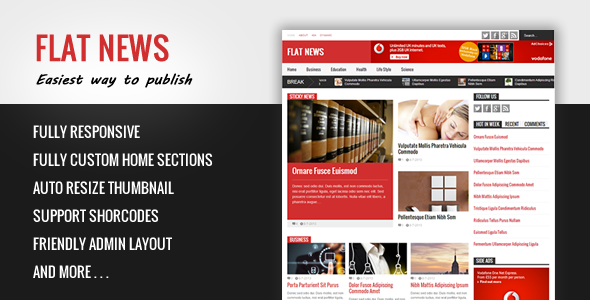 Flat News � ThemeForest Easy News and Magazine Blogger Template