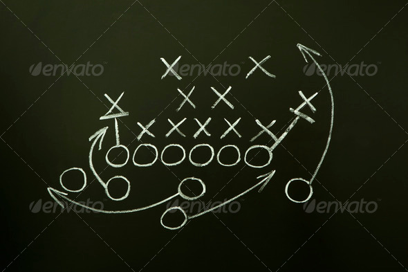 PhotoDune Game Strategy Drawn on Blackboard 716031