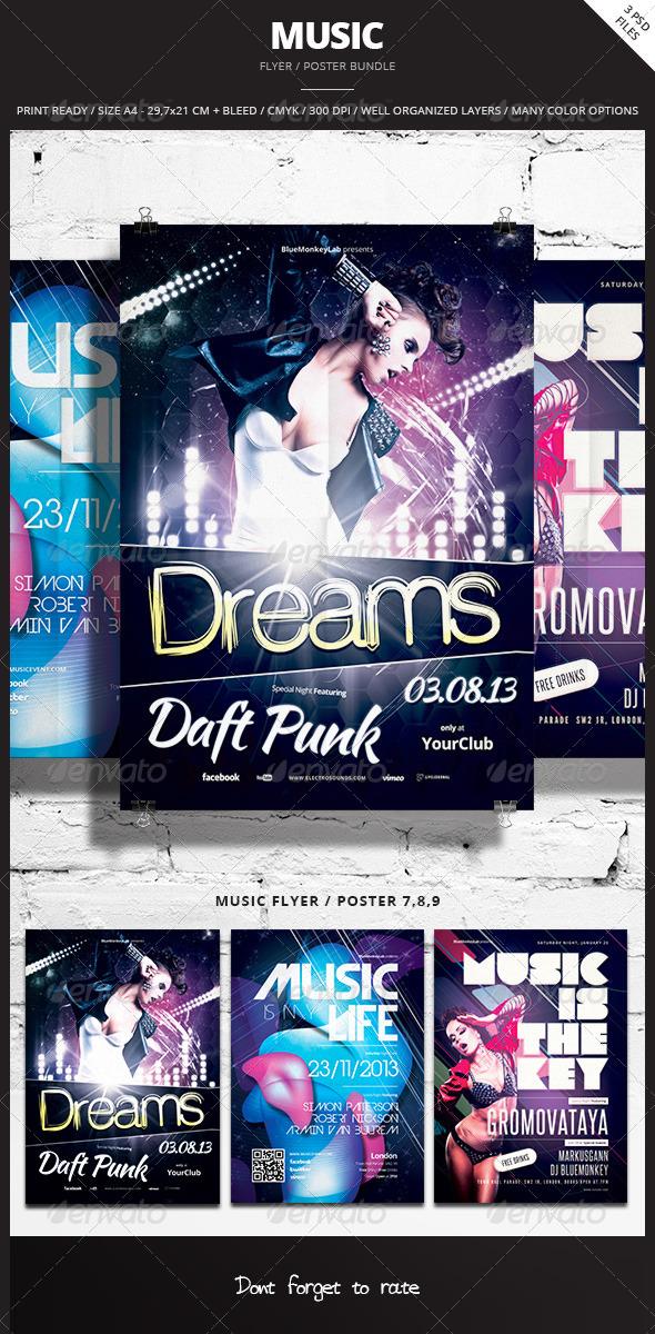 GraphicRiver Music Flyer Poster Bundle 3 6856555