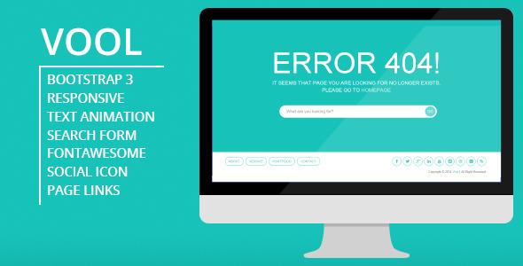 Vool - Responsive 404 Error Page