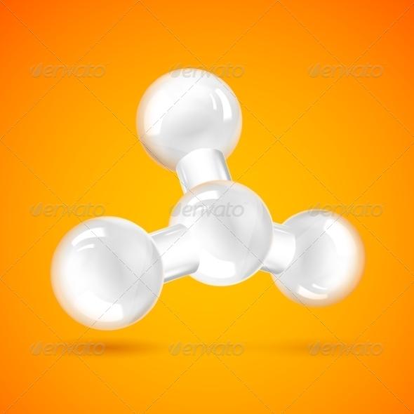 GraphicRiver White Molecule Icon 6856582