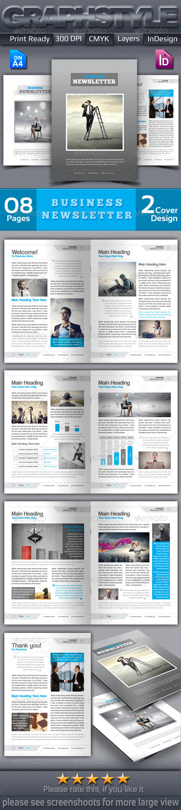 GraphicRiver Clean Business Newsletter 6856606