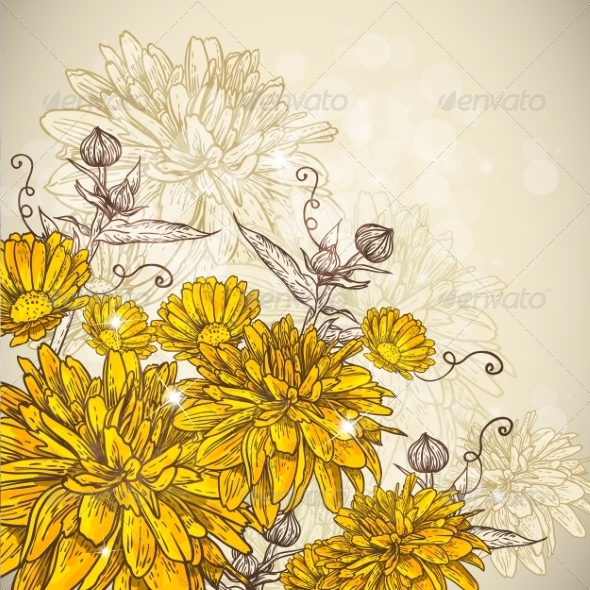 GraphicRiver Floral Background 6856777