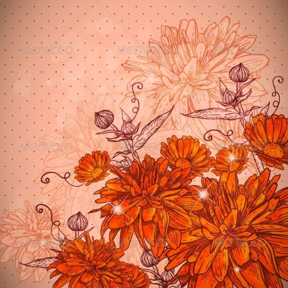 GraphicRiver Beautiful Floral Background 6856799