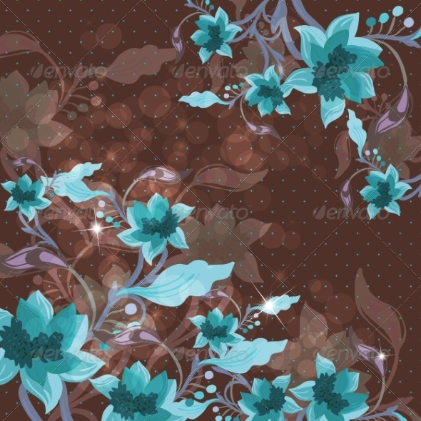 GraphicRiver Beautiful Floral Background 6856802