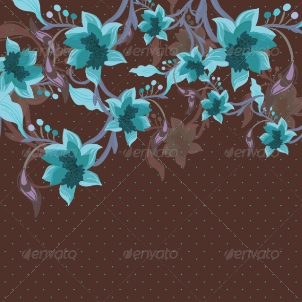 GraphicRiver Beautiful Floral Background 6856805