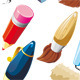 Big Set of Stationery for Writing and Drawing - GraphicRiver Item for Sale