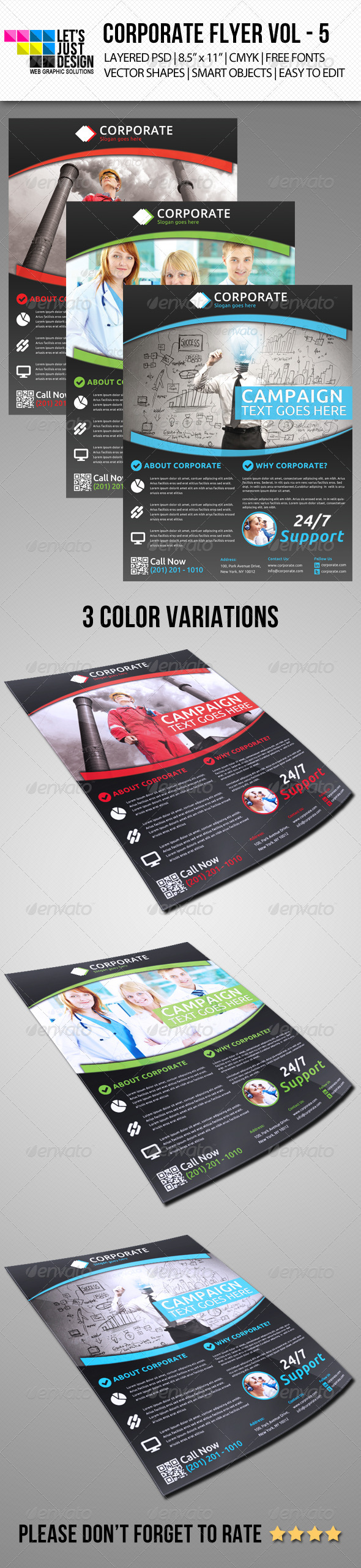 Corporate Flyer Template Vol 5 - Print Templates