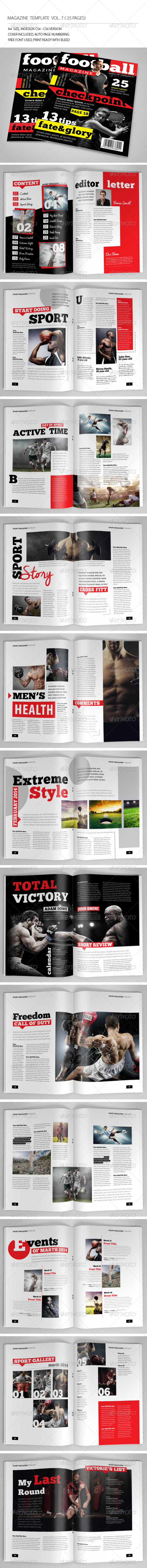 GraphicRiver 25 Pages Sport Magazine Vol7 6856888