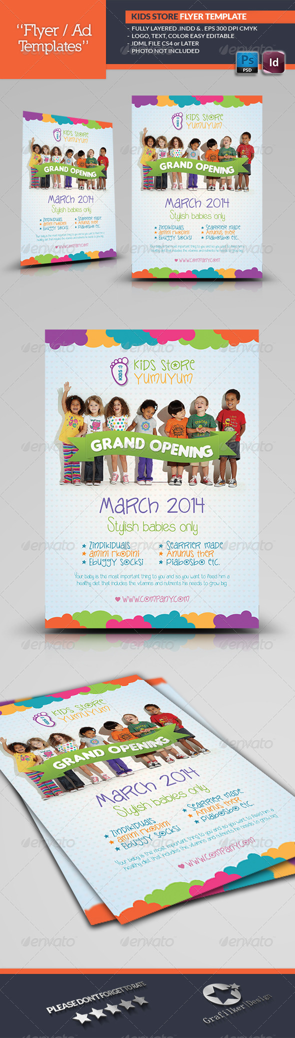 GraphicRiver Kids Store Flyer Templates 6856925