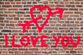 I Love You Graffiti - PhotoDune Item for Sale