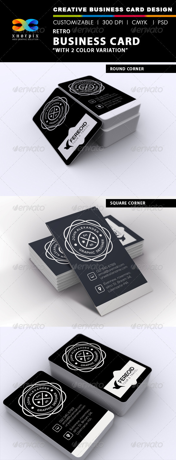 GraphicRiver Retro Business Card 6856986