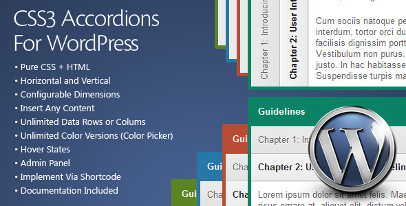 CodeCanyon CSS3 Accordions For WordPress 716291