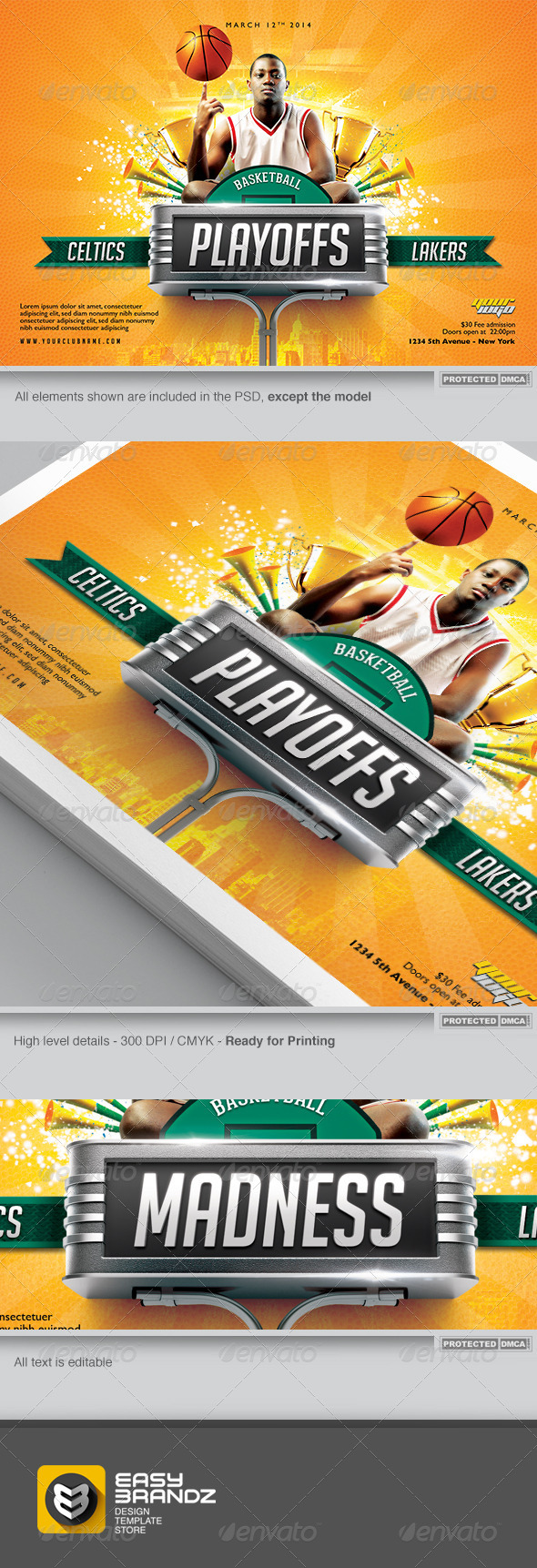 GraphicRiver BasketBall Flyer Template 6857060