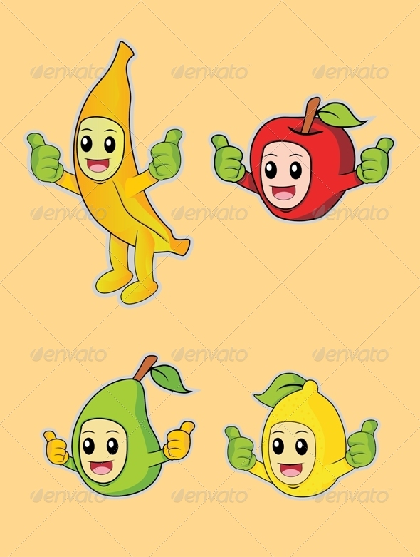 GraphicRiver Fruits Thumbs Up 6857074