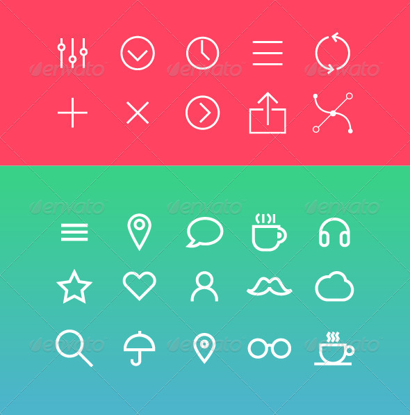 GraphicRiver Modern Vector Icons Set in Flat Style 6857477