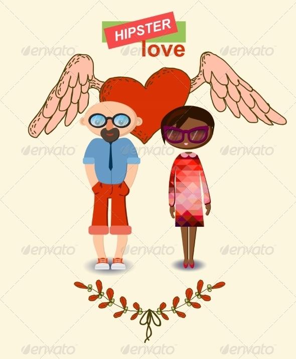 GraphicRiver Love Decorative Elements Set 6857639