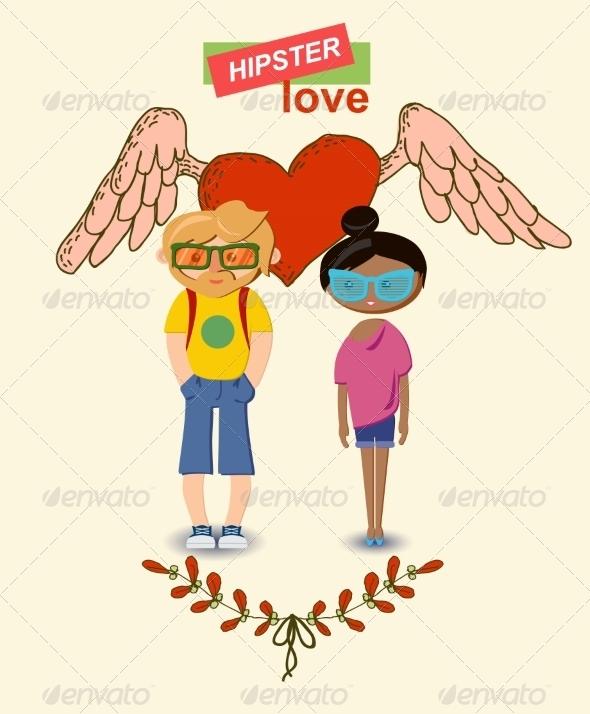 GraphicRiver Love Decorative Elements Set 6857645