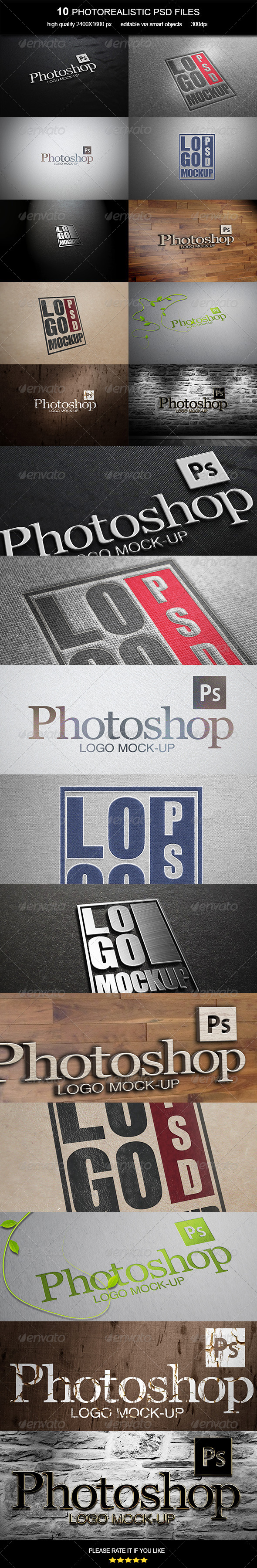 GraphicRiver Logo Mock-Up Vol 6 6857671