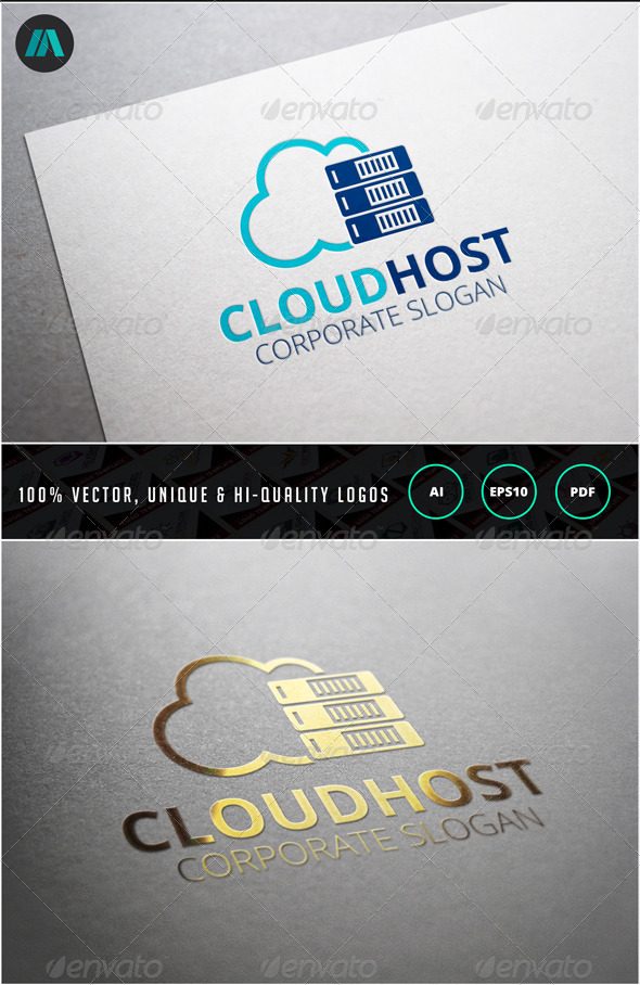 GraphicRiver Cloud Host Logo Template 6857993