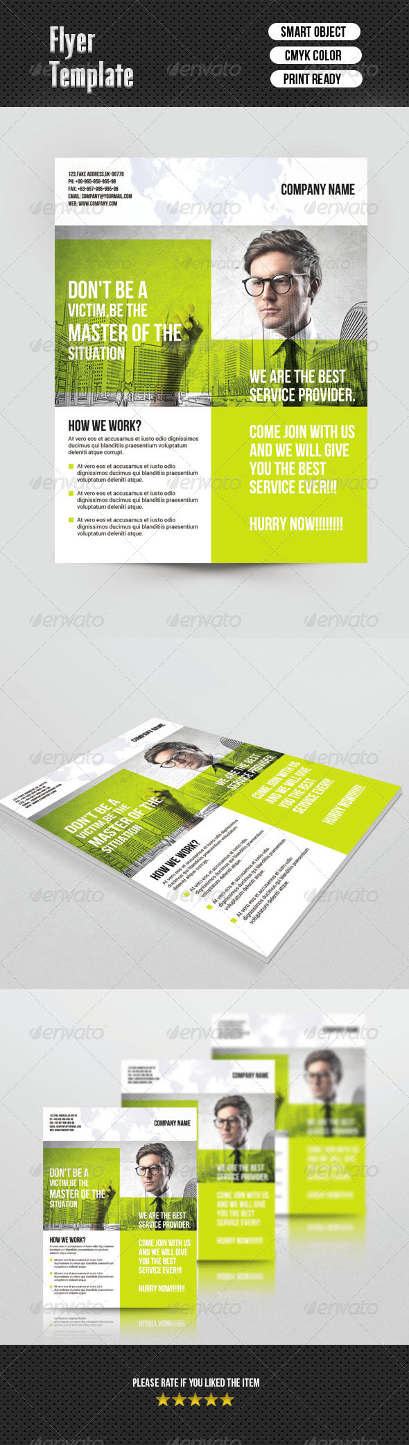 GraphicRiver Corporate Flyer Template 6857994