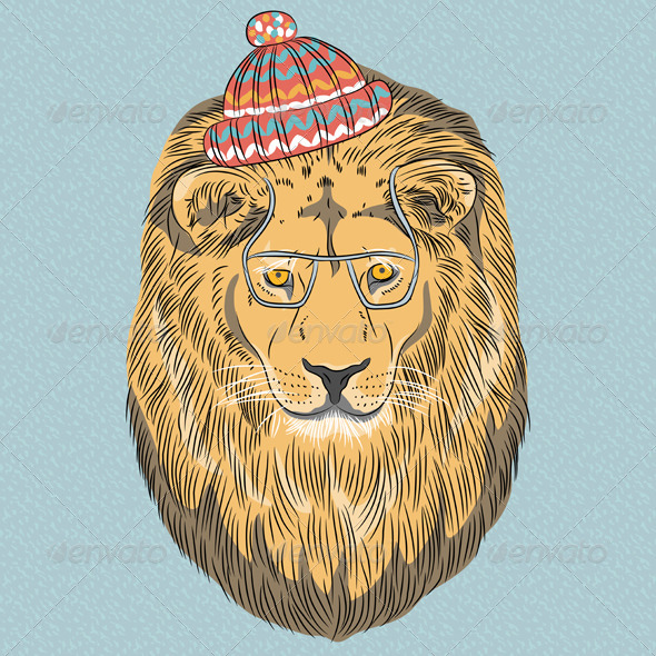 GraphicRiver Hipster Lion 6858013
