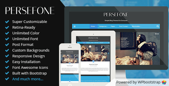 ThemeForest Persefone Responsive WordPress Blog Theme 6826272