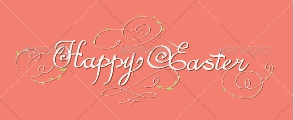 GraphicRiver Happy Easter Lettering 6858035