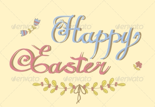 GraphicRiver Happy Easter Lettering 6858061