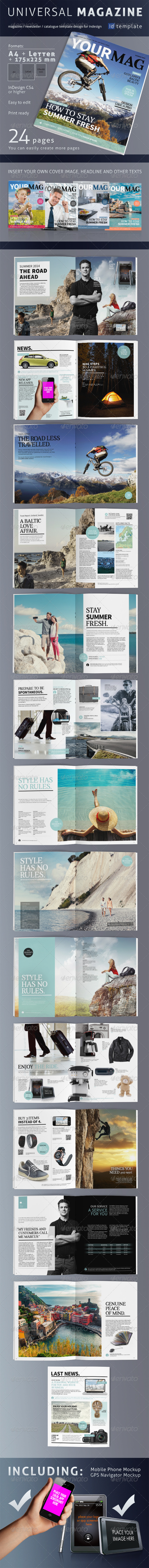 GraphicRiver 24 Page Universal Magazine A4&Letter 6842133