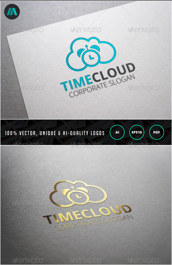 GraphicRiver Time Cloud Logo Template 6858475