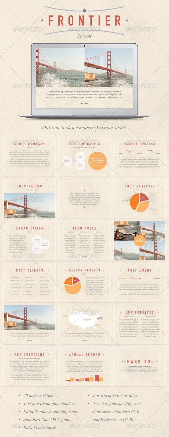 GraphicRiver Frontier Keynote Template 6856829