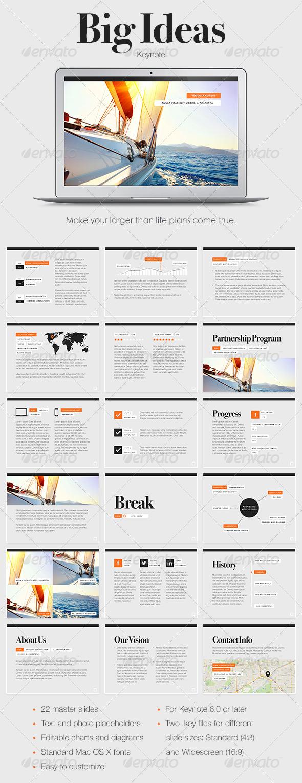 GraphicRiver Big Ideas Keynote Template 6856814