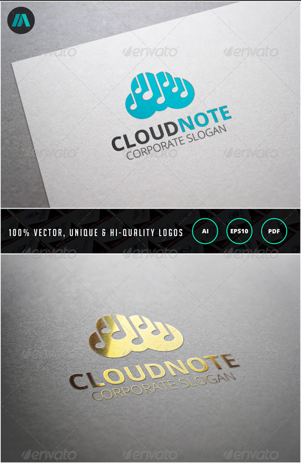 GraphicRiver Cloud Note Logo Template 6858656