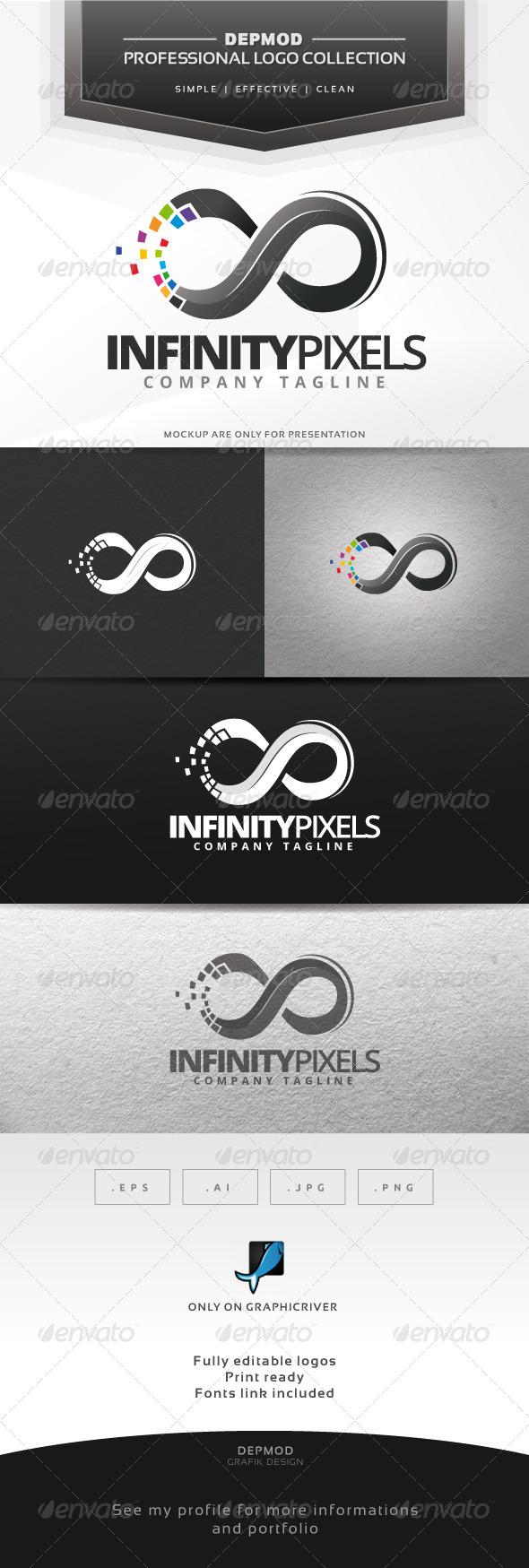 GraphicRiver Infinity Pixels Logo 6858777