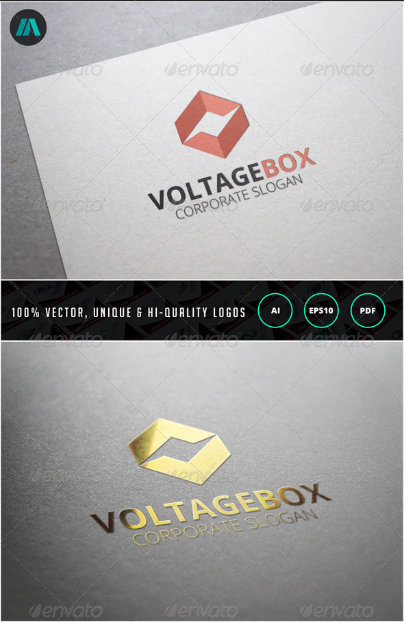GraphicRiver Voltage Box Logo Template 6858891