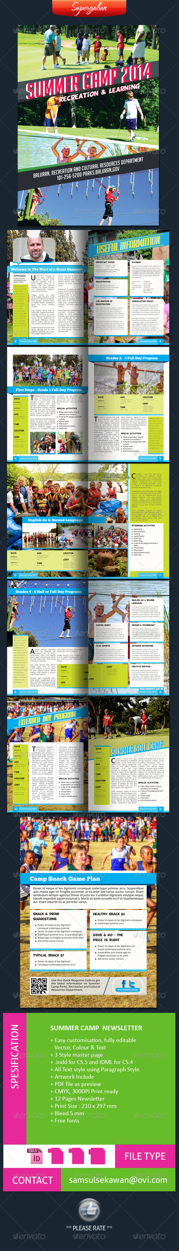 GraphicRiver Summer Camps Newsletter 6858926