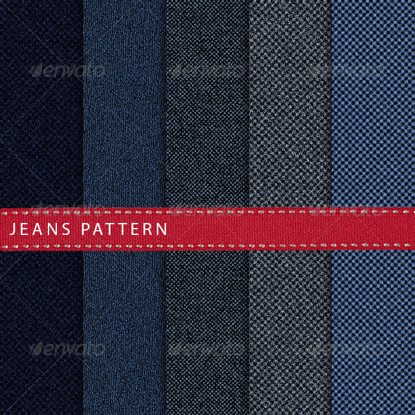 GraphicRiver Jeans Pattern 6858945