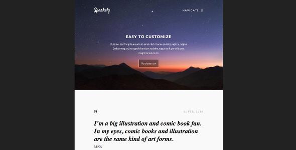Sparkely - Minimal Responsive Theme