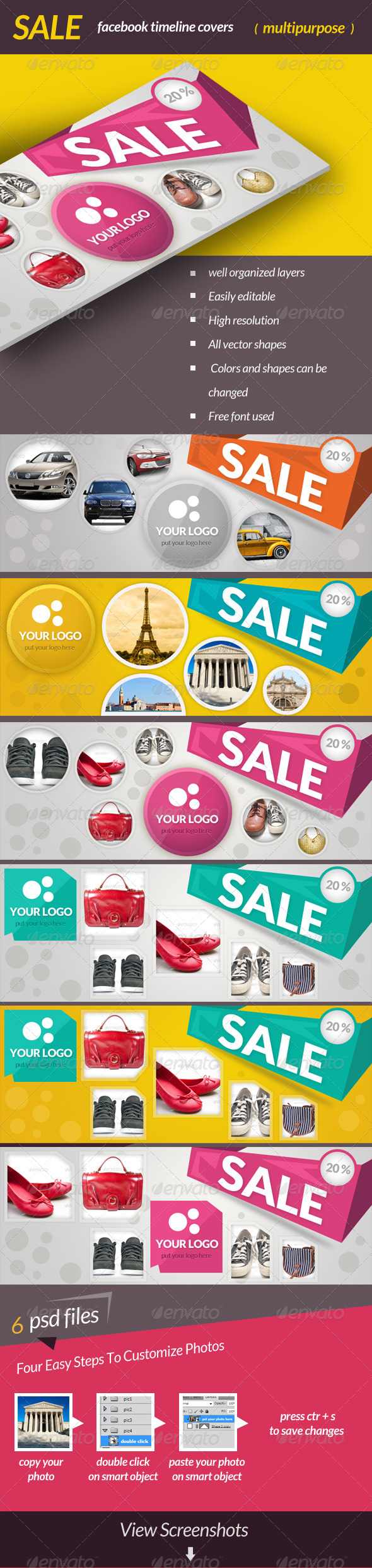 GraphicRiver SALE-Facebook Timeline Covers 6859264